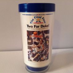 Vintage Eagle Brand The Final Four Two For Duke! 1992 NCAA Plastic Mug Cup  #Eagle