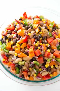 I love making this colorful salad – it's perfect for your next BBQ party, a family get-together or a potluck. Cowboy Caviar is a mix between a salad, a salsa, a side dish and a dip if served with chips. It is also great as a taco topping or served with grilled meatand fresh gluten…