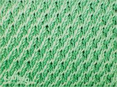 Ribbed stockinette stitch