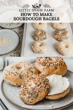 Sourdough Bagels Recipe - An easy, overnight sourdough bagel recipe that can be made with whole wheat, all purpose or bread f - Sourdough Bagels, Sourdough Recipes, Bread Recipes, Baking Recipes, Starter Recipes, Fast Recipes, Baking Tips, Kitchen Recipes, Sourdough Starter Discard Recipe