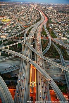 Los Angeles, California, USA. Glad I don't have to drive those roads any more!
