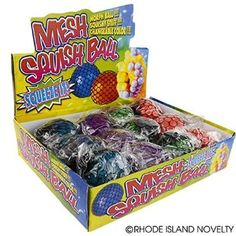 Mesh Squishy Ball (Pack of 12)