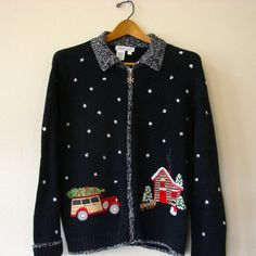 Hot Rod Christmas Ugly Sweater by Spikednog on Etsy