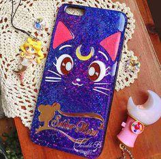 Custom Name Sailor Moon Sailor Luna Cat Phone Case (All Phone Model available)