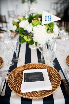 Nautical and Secret Garden inspired wedding decor, photos by Laurel McConnell Photography | junebugweddings.com