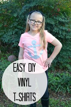 Easy DIY Vinyl T-shirts that do not require a machine!