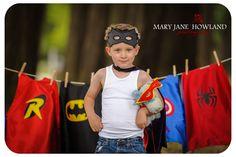 Super Hero Photos, Super Hero Photography, Super Hero Photo Shoot, Child Photography, Super Hero doing laundry