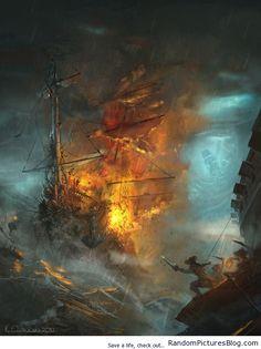 Amazing Ship battle Artwork