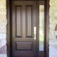 Side Light Entry Doors | Amberwood Doors Inc. Single Main Door Designs, House Main Door Design, Wooden Main Door Design, House Design, Modern Entrance Door, Modern Wooden Doors, Entry Doors, Double Doors Exterior, Double Front Doors