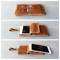 This is Ground's Leather iPhone 6 Case is Inspired by a Sleeping Bag #phones trendhunter.com