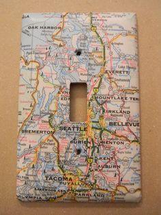 Seattle Tacoma Everett Washington Road Map by creativeordinary, $10.00