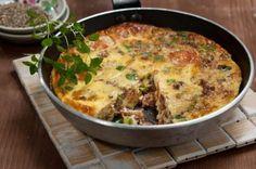 Omelette, Mediterranean Recipes, Greek Recipes, Cheeseburger Chowder, Quiche, Soup, Meat, Breakfast, Buffalo
