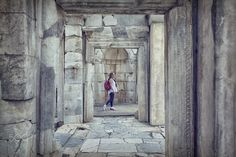 passing through time - these doors are between the library and agora in ephesus.looking through them makes one think travelling through time.