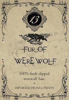 Halloween Potion Labels Fur of Werewolf Halloween Apothecary Labels, Halloween Potion Bottles, Halloween Labels, Halloween Crafts, Halloween Clothes, Apothecary Jars, Halloween Printable, Halloween Decorations, Halloween Spells
