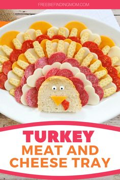 Do you want a Thanksgiving appetizer idea that will be the talk of the table? This cute Turkey Meat and Cheese Tray will do just that. Load up this meat and cheese turkey platter with your favorite meats and cheeses to create this impressive little guy. He'll be gobbled up in no time! #thanksgivingrecipes #thanksgivingsidedishes #meatandcheeseboard #meatandcheesetrayideas Thanksgiving Appetizers, Thanksgiving Side Dishes, Thanksgiving Recipes, Healthy Meals For Kids, Kids Meals, Meat And Cheese Tray, Low Fat Chicken Recipes, Cheese Turkey, Best Party Appetizers