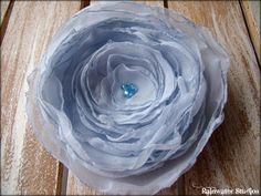 Wedding Hair Flower-  Powder Blue, Baby Blue, Bridal Accessory, Made To Order