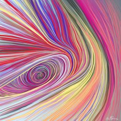 iCanvas 'Pure Abstract Bis' by Ben Heine Graphic Art on Wrapped Canvas Ben Heine, Art Fractal, Art Texture, Wow Art, Oeuvre D'art, Rainbow Colors, Amazing Art, Awesome, Abstract Art
