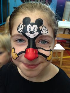 Mickey Mouse, face paint