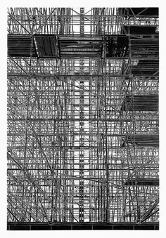 """Aufzug (elevator)"" by Philipp Hennevogl (linocut, 2011) #art #linocut"