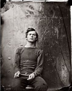 A prison portrait of Lewis Paine (who attempted unsuccessfully to murder Secretary of State William Seward - part of Lincoln assassination conspiracy), c. 1865 by Alexander Gardner