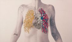 SERIE CONSTRUCTAL  >> Juana Gómez trabaja sobre su cuerpo, le resulta más directo y sincero que al hacerlo sobre el de otra persona. Sobre la #impresión de #fotográfia y a través del dibujo y el color del hilo, traza auténticos mapas de seguimiento corporal www.IndieColors.com http://www.indiecolors.com/blog/arte/juana-gomez/ #arte #dibujo #JuanaGomez #SerieConstructal #IndieColors