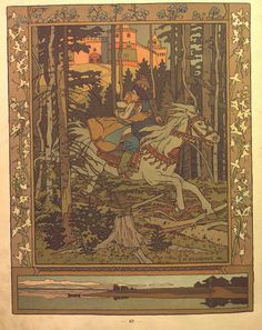 Ivan Bilibin illustrated Russian folk tales or skazki which were virtually unknown in Western Europe at the time. This book of Russian folk tales was published in Art And Illustration, Fantasy Kunst, Fantasy Art, Art Populaire Russe, Folklore Russe, Harry Clarke, Blog Art, Fantasy Posters, Russian Folk Art