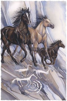 Bergsma Gallery Press :: Paintings :: Natural Elements :: Horses :: In The Beginning... A Dream - Prints