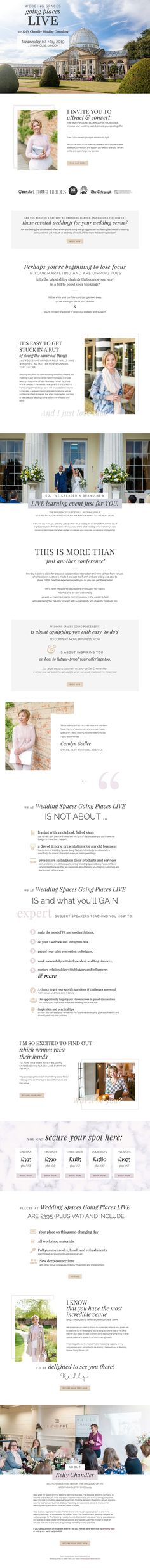 Ongoing coaching and branding client of Segerius Bruce Coaching. Sales page for in-person event for the UK wedding venue industry. Entrepreneur Magazine, Wedding Venues Uk, Brand Strategist, Success Coach, Famous Photographers, Photography Business, Personal Branding, Business Design, Coaching