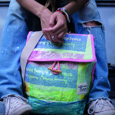 a704de94cd24 Upcycled PASSION PINK Twin Backpack by Upfuse  upcycling  ecofriendly   slowfashion Slow Fashion