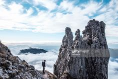 Hiker on the mountain