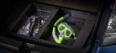 Honda Fit Twist - Compartimento exclusivo sob o porta-malas