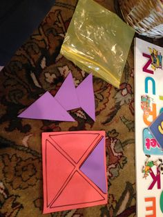 Toddler busy bags - geometry/spatial