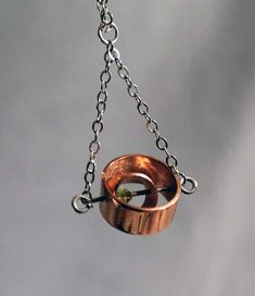 Recycled Copper Tubing Gyroscope Pendant by OnocleaStudios on Etsy, $40.00
