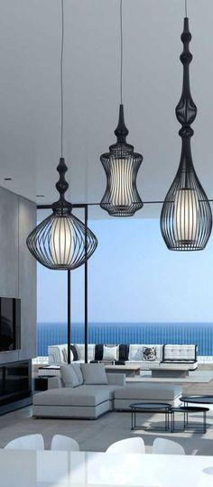 Heerlijk rustgevende luxe sfeer - hanglampen Alezio - Goossens wonen en slapen