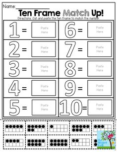 Back to School Math for KINDERGARTEN! TONS of fun and engaging activities!