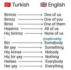 English Vocabulary Words, English Words, English Lessons, English Grammar, Improve English, Learn English, Learn Turkish Language, Arabic Language, Turkish Lessons