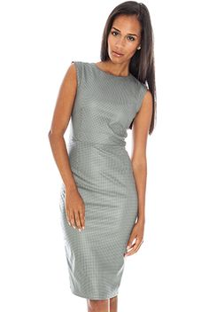 Perforated PU Pencil Dress #rebel #trend #citygoddess #leather