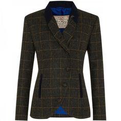 Reitbekleidung Damen-Reitbekleidung Jack Murphy Alex Wax Jacket Womens Blue Equestrian Horse Riding Coat Outerwear