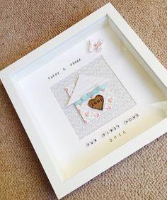 New home box frame gift home present handmade new home Box Frame Art, Diy Frame, Box Frames, Box Art, Scrabble Crafts, Scrabble Frame, Scrabble Art, Scrabble Tiles, Christmas Photo Cards
