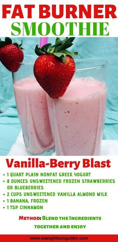 20 Smoothies Recipes For Weight Loss Fat Burning. Want to lose weight with smoothies? Here are the 20 Smoothies recipes for weight loss fat burning, these smoothies recipes are simple to make and easy. Fat Burner Smoothie, Fat Burning Smoothies, Fat Burning Foods, Smoothie Diet, Weight Loss Smoothies, Clean Smoothie, Dinner Smoothie, Breakfast Smoothies For Weight Loss, Smoothies For Dinner
