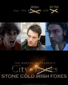 """hahaha. """"stone cold irish foxes"""" bahaha love it!"""