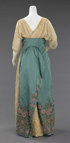 Evening dress Design House: House of Paquin (French, 1891–1956) Designer: Mme. Jeanne Paquin (French, 1869–1936) Date: spring/summer 1912 Culture: French Medium: silk, cotton