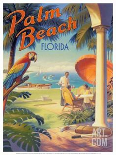 Palm Beach, Florida Art Print by Kerne Erickson at Art.com