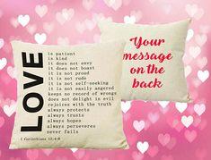 Love pillow - love is patient https://www.etsy.com/uk/listing/589155849/love-is-patient-love-is-kind-pillow