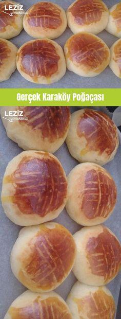 Gerçek Karaköy Poğaçası Hot Dog Buns, Hamburger, Vinaigrette, Food And Drink, Peach, Bread, Fruit, Vegetables, Recipes