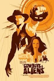 Image result for cowboys and aliens poster art