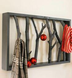 DIY branch self - coat hanger from branches // Előszoba fogas faágakból // Mindy - craft tutorial collection // #crafts #DIY #craftTutorial #tutorial #DIYFurniture