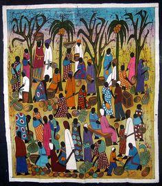 """Batik """"Small People"""" by  Richard Kimbo"""