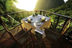 Ladera Resort St Lucia -- If you're trying to decide where to take your vacation this year then consider these 5 amazing hotels that you really should visit before you die. Underwater Hotel, Underwater Restaurant, Hotel Restaurant, Beautiful Hotels, Beautiful World, Beautiful Places, Amazing Hotels, Santa Lucia, Krabi