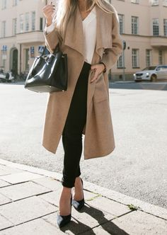 Coat and Skirt from Zara  / Bag from Prada / Jeans from Filippa K  / (Bracelet and shoes old.)